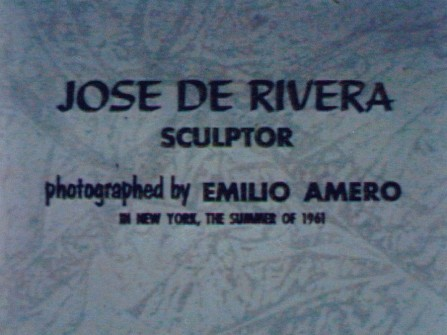 Jose de Rivera, Sculptor